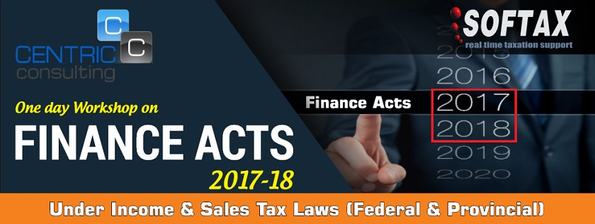 One Day Workshop on Finance Acts 2017-2018